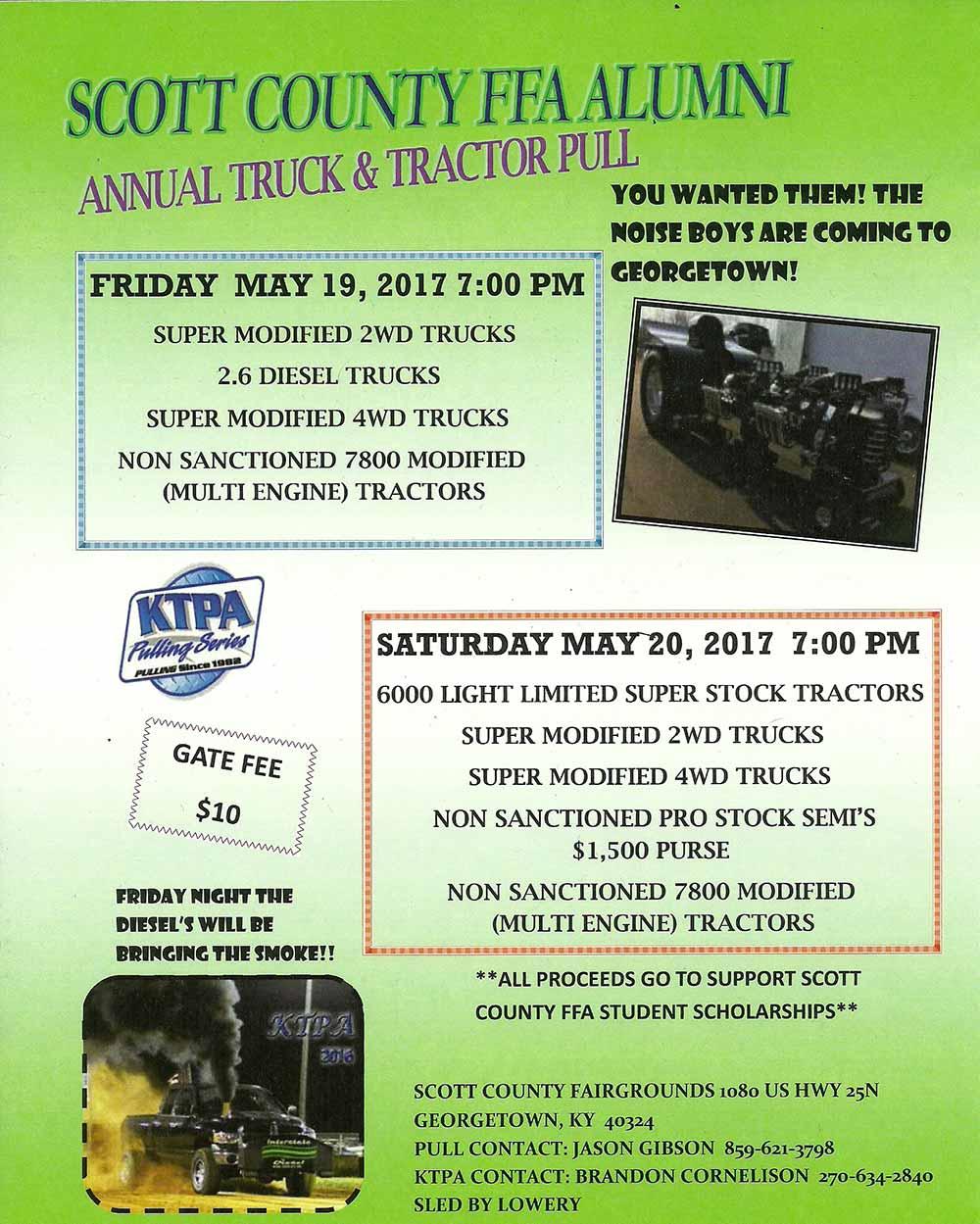Scott County FFA Alumni Truck and Tractor Pull