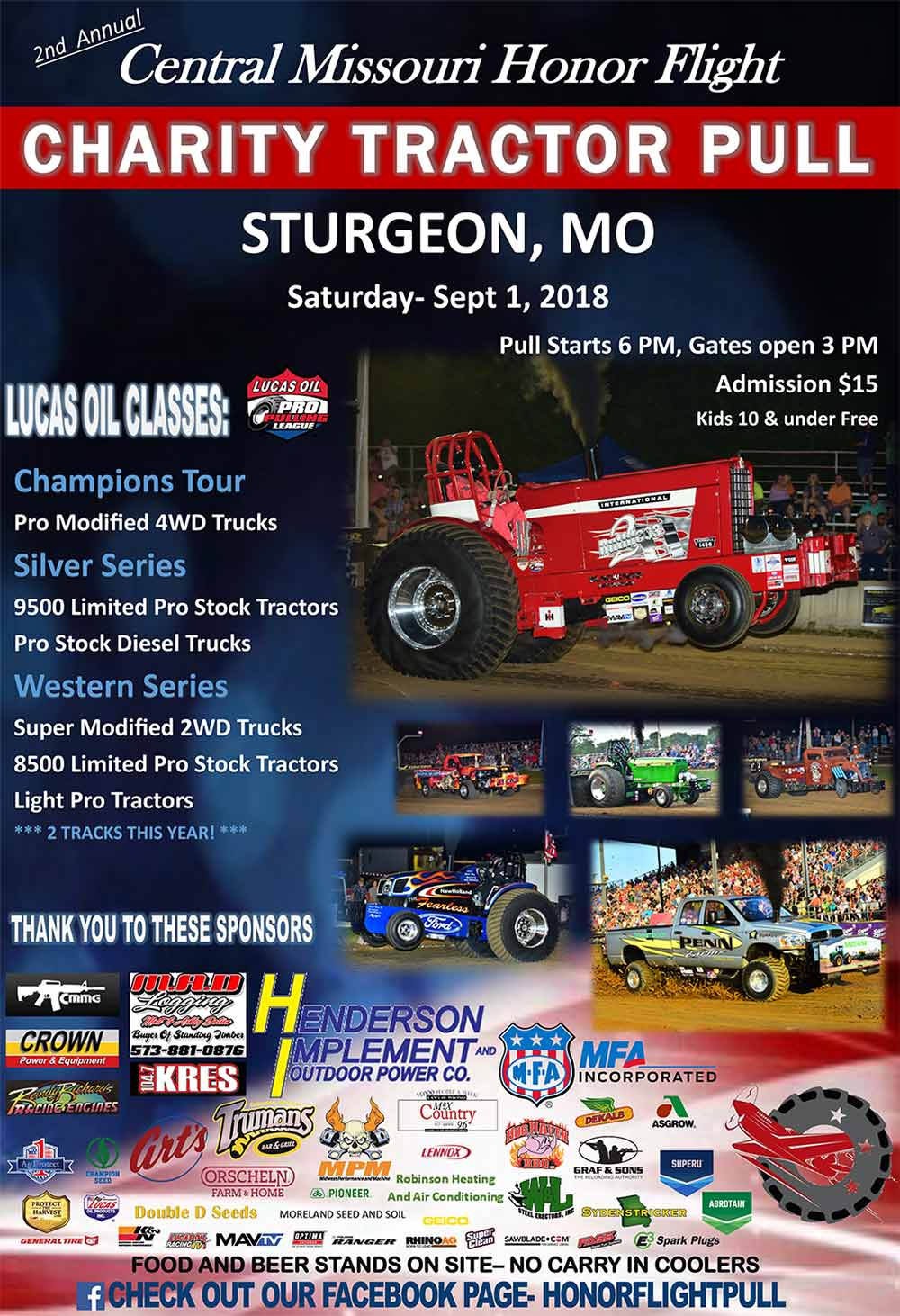 Central MO Honor Flight Charity Tractor Pull
