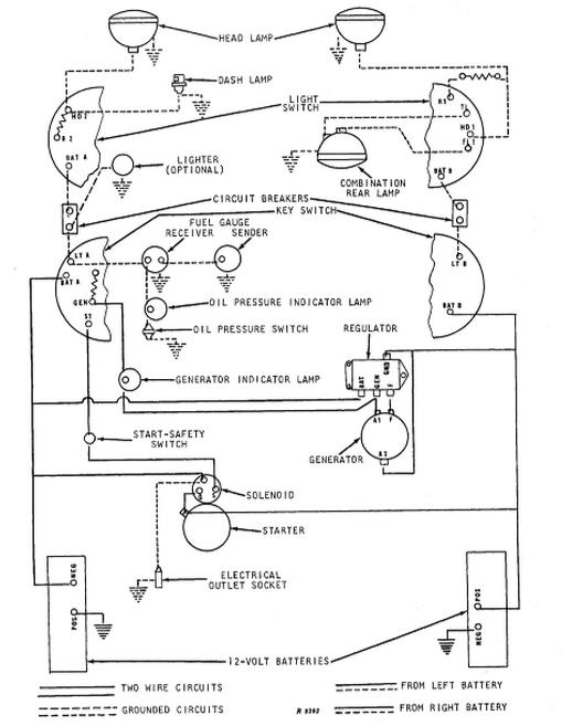 Re John Deere 4020 24 volt problem – John Deere Light Switch Wiring Diagram